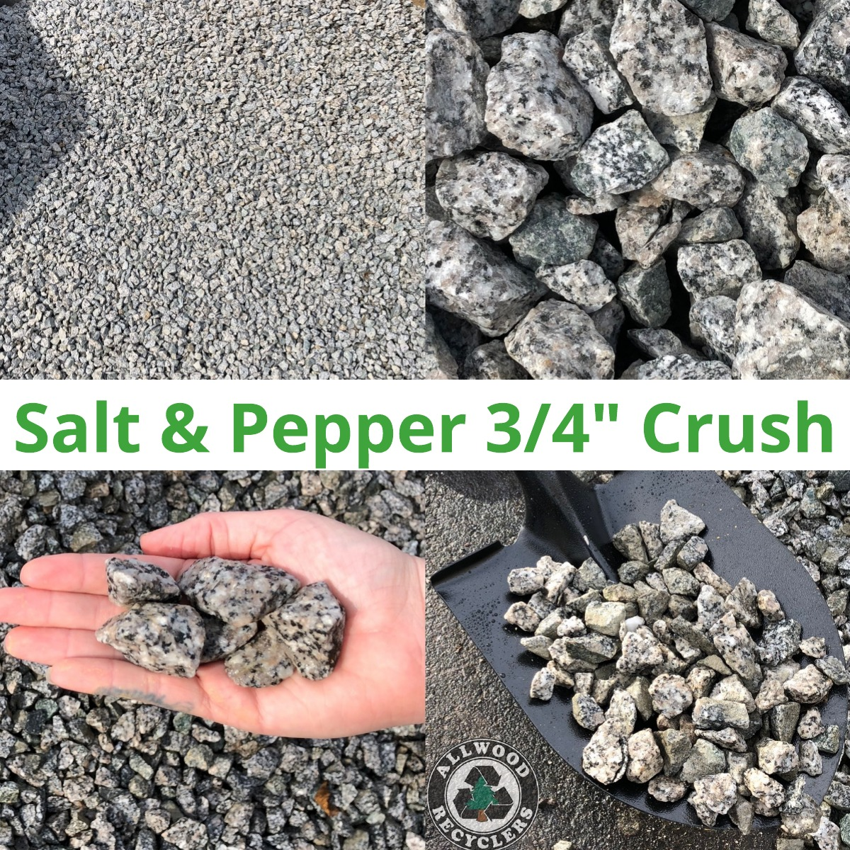 Salt & Pepper ¾ Crush