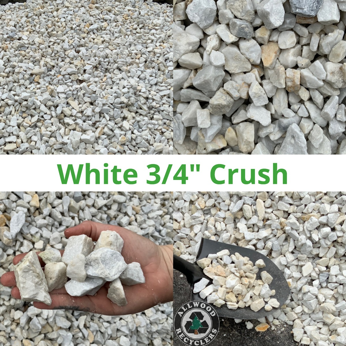 White ¾ Crush